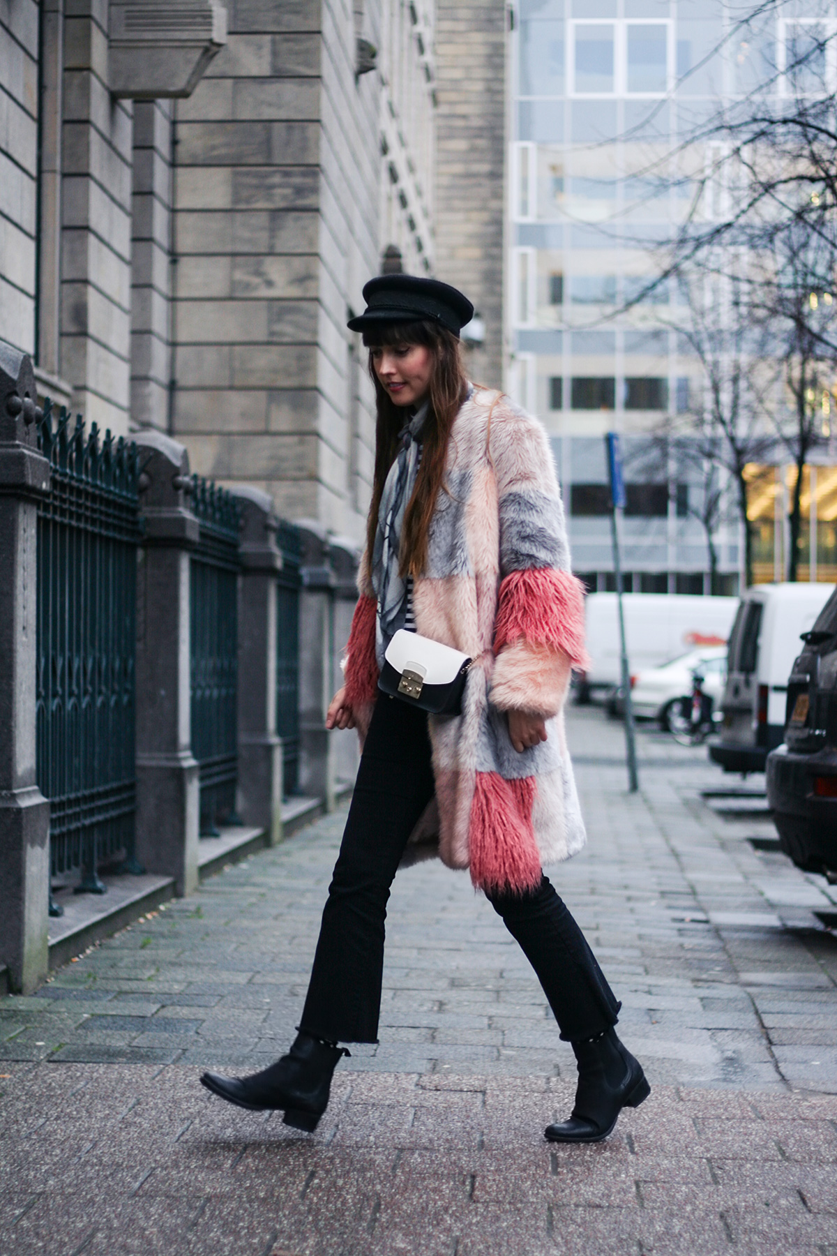 pink-faux-fur-coat-striped-shirt-winter-outfit-4